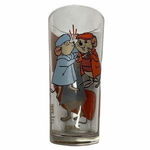 VTG 1977 Disney The Rescuers Collectable Glass Cup